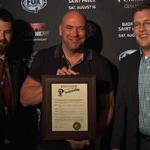 Fight Night Bangor: Dana White Receives Bangor Proclamation