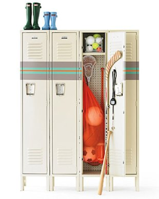 Clutter Control with Lockers