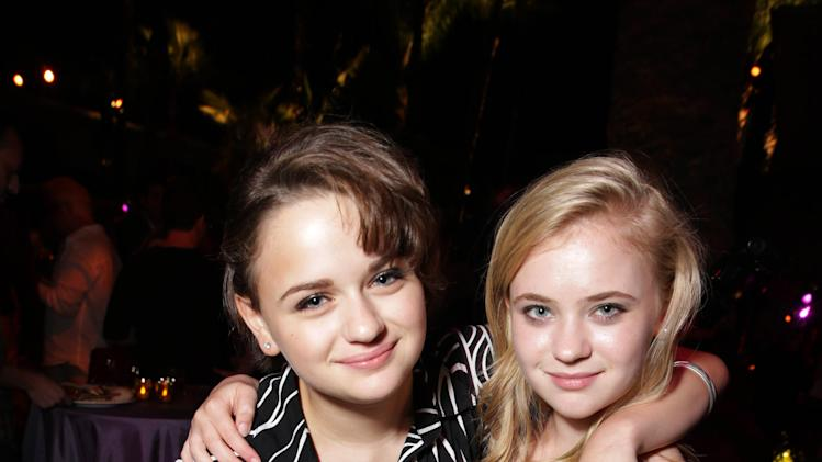 Joey King and Sierra McCormick seen at the Los Angeles World Premiere of New Line Cinema's and Metro-Goldwyn-Mayer Pictures' 'If I Stay' held at TCL Chinese Theatre on Wednesday, August 20, 2014, in Hollywood. (Photo by Eric Charbonneau/Invision for Warner Bros./AP Images)