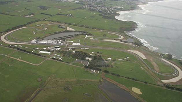 Phillip Island circuit from the air