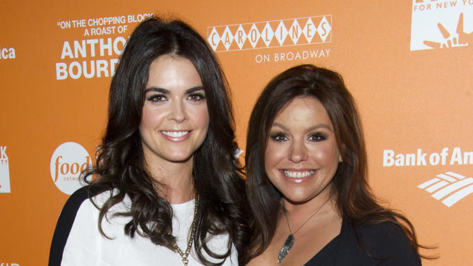 """Katie Lee Joel, left, and Rachael Ray attend """"On The Chopping Block: A Roast of Anthony Bourdain"""" on Thursday, Oct. 11, 2012 in New York. (Photo by Charles Sykes/Invision/AP Images)"""