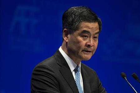Hong Kong Chief Executive Leung Chun-ying attends the Asian Financial Forum in Hong Kong