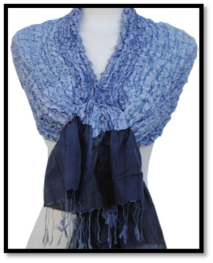 An example of a beautiful silk shawl. 