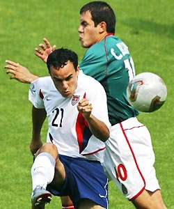 Landon Donovan and Cuauhtemoc Blanco