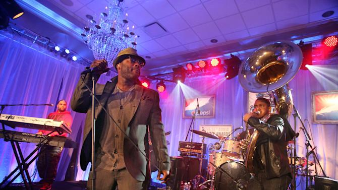 IMAGE DISTRIBUTED FOR PEPSI - The Roots perform at the Pepsi 5th Quarter in the French Quarter Post Super Bowl Party, on Sunday, Feb. 3, 2013, in New Orleans. (Photo by Cheryl Gerber/Invision for Pepsi/AP Images)