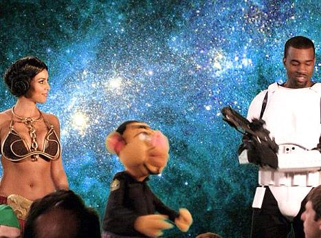 Flashback Picture! Half-Naked Kim Kardashian and Kanye West in 2008 Stars Wars Costumes