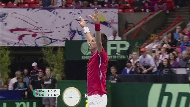 Serbia beat USA 3-1 in Davis Cup quarter final