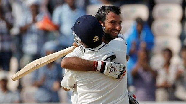 Cricket - Dravid replacement Pujara hits century for India