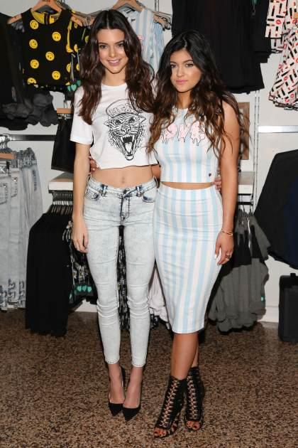 Kendall Jenner and Kylie Jenner attend the launch of the PacSun 'Kendall & Kylie Holiday Collection' at Glendale Galleria on November 9, 2013 in Glendale, Calif. -- Getty Images