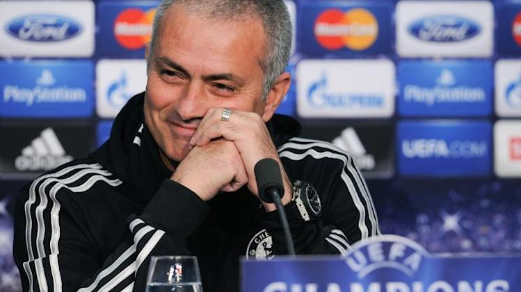 Chelsea's Portuguese coach Jose Mourinho smiles as he takes part in a press conference in Basel on November 25, 2013