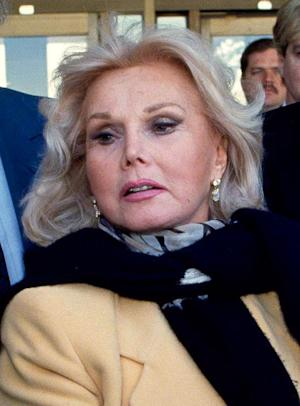 FILE - In this Jan. 27, 1993 file photo, actress Zsa Zsa Gabor is shown in Midland, Texas. (AP Photo/Curt Wilcott, File)
