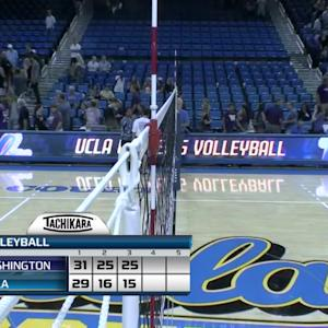Recap: No. 5 Washington women's volleyball sweeps No. 11 UCLA