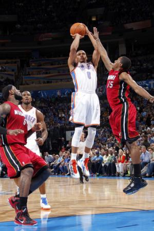 Thunder take down turnover-prone Heat 103-87