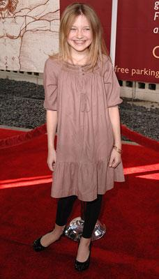 Dakota Fanning at the Hollywood premiere of Paramount Pictures' Charlotte's Web