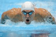 US swimmer Michael Phelps competes in the men's 400m individual medley heats at the London 2012 Olympic Games on Saturday. He reached the final of the 400m individual medley at the London Games by the skin of his teeth, nabbing the eighth and last spot