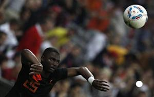 Netherlands Willems plays soccer ball during friendly soccer match against Bayern Munich in Munich