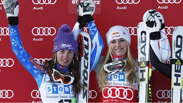 World Championships - Vonn v Maze in Super-G showdown