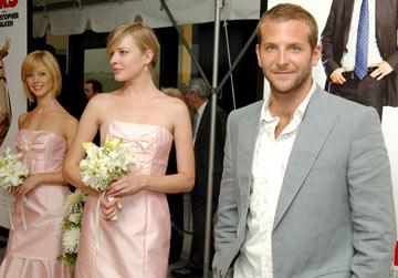 Premiere: Bradley Cooper and bridesmaids at the New York premiere of New Line Cinema's Wedding Crashers - 7/13/2005