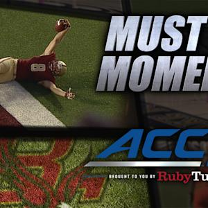BC's Tyler Murphy Throws Back Across His Body for Incredible TD | ACC Must See Moment