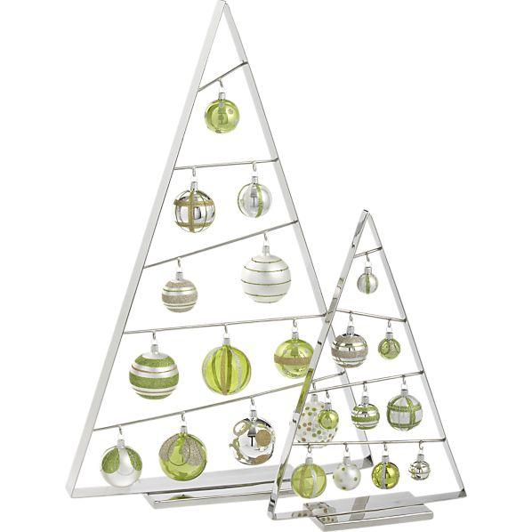 crate and barrel ornament tree Space-saving Christmas tree alternatives
