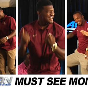 Jameis Winston & P.J. Williams Dance With Clinton Portis | ACC Must See Moment