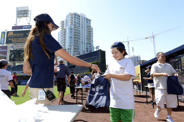 Mercury Insurance employees and agents, local little leaguers and San Diego Padres pitcher Ian Kennedy along with community representatives stuffed 1,...