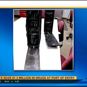 Agents seize $1.3M in drugs at port of entry
