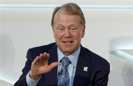 Chairman of the Board and CEO of Cisco John Chambers speaks at the Global Investment Conference 2012 in London
