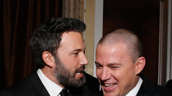 Ben Affleck, left, and Channing Tatum are seen during the cocktail reception at the 24th Annual Producers Guild (PGA) Awards at the Beverly Hilton Hotel on Saturday Jan. 26, 2013, in Beverly Hills, Calif. (Photo by Todd Williamson/Invision for The Producers Guild/AP Images)