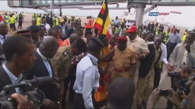 Hero Kiprotich returns home