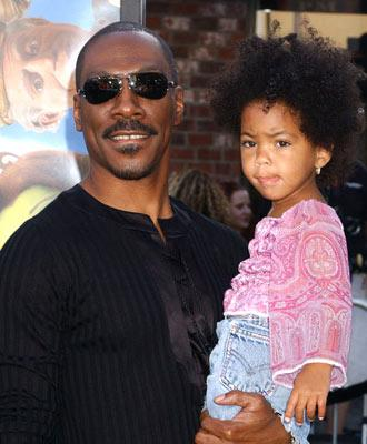 Premiere: Eddie Murphy and daughter at the L.A. premiere of Dreamworks' Shrek 2 - 5/8/2004