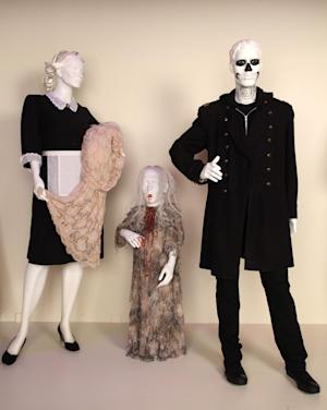 "In this publicity photo provided by Fashion Institute of Design & Merchandising, costumes from the TV show, ""American Horror Story,"" are shown in the exhibit ""The Outstanding Art of Television Costume Design"" at FIDM in Los Angeles.  ""American Horror Story"" is nominated for 2012 Emmy® for Outstanding Costume Design by Series Costume Designer, Chrisi Karvonides and Series Costume Supervisor, Conan Castro. Additional costumes by Pilot Costume Designer, Lou Eyrich, Pilot Co-Costume Designer, Jennifer Eve. (AP Photo/FIDM, Alex J. Berliner)"