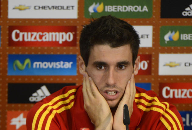 Spanish Midfielder Javi Martinez Gestures AFP/Getty Images