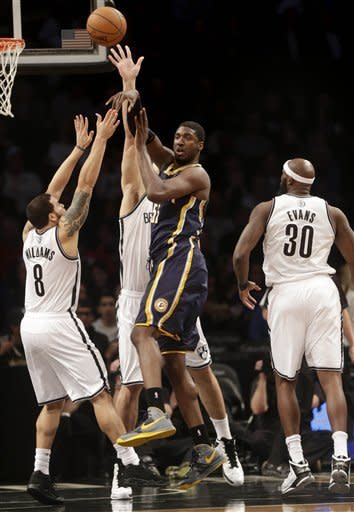 Nets rally from 12 down in 3rd, beat Pacers 97-86