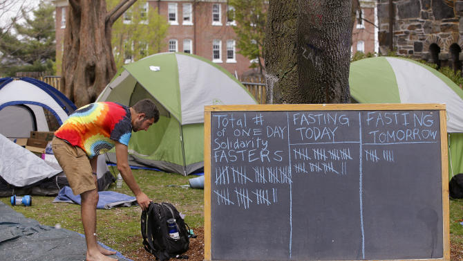 Hunger striking students frustrated with university response