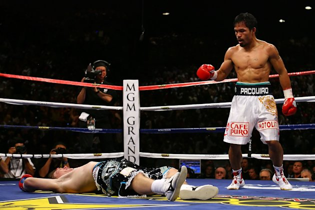 15. Manny Pacquiao KO2 Ricky Hatton, May 2, 2009  Hatton was expected to provide a stiff test for Pacquiao, but he was completely outclassed. He entered the fight with a 45-1 record, but was battered