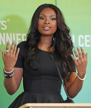 FILE - In this Sept. 27, 2011 file photo, singer and Oscar-winning actress Jennifer Hudson speaks in Chicago. On Monday, April 9, 2012, a judge will question potential jurors as jury selection begins in earnest at the Chicago trial of William Balfour, the man accused of murdering Hudson's mother, brother and 7-year-old nephew in 2008. Testimony begins April 23. (AP Photo/M. Spencer Green, File)