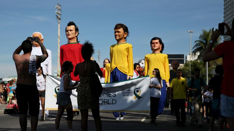 Brazilians Hold Rally For Their National Team Ahead Of World Cup