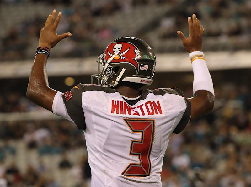 Jameis Winston denies an allegation that he groped a woman during an Uber ride. (Getty Images)