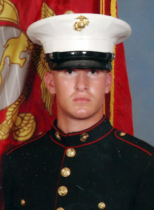 This undated photo provided by the U.S. Marines shows Cpl. Aaron Ripperda of Highland, Ill. Ripperda was killed with six other Marines in an explosion during a Nevada training exercise on Monday, Marc