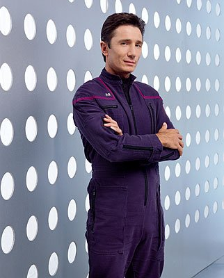 Dominic Keating as Lt. Malcolm Reed on UPN's Enterprise Enterprise
