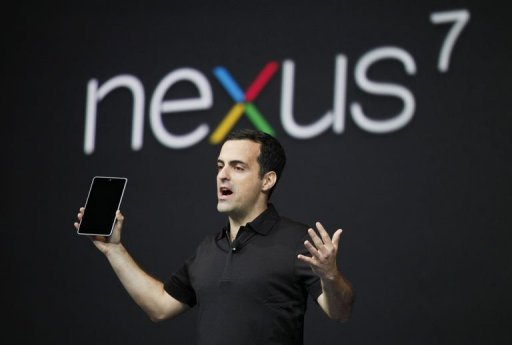 &lt;p&gt;Hugo Barra, product management director of Android, introduces Google&#39;s low-cost computer tablet Nexus 7 during the keynote speech at Google&#39;s annual developer conference, Google I/O in San Francisco. Google on Wednesday unveiled its own branded Nexus 7 tablet computer designed to challenge Apple&#39;s iPad and be a window into its online shop for films, books, movies and more.&lt;/p&gt;