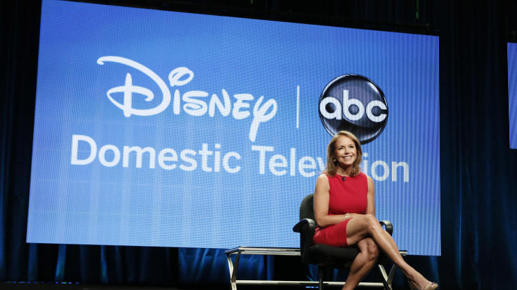 "Katie Couric attends the Disney ABC panel for ""Katie"" at the Beverly Hilton Hotel on Thursday, July 26, 2012, in Beverly Hills, Calif. (Photo by Todd Williamson/Invision/AP)"