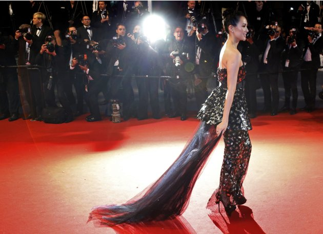 "Jury member of Film selection ""Un Certain Regard"" actress Zhang Ziyi arrives for the screening of the film ""Only God Forgives"" in competition during the 66th Cannes Film Festival"