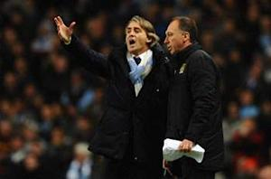 Mancini: Manchester City does not deserve to be 15 points behind United
