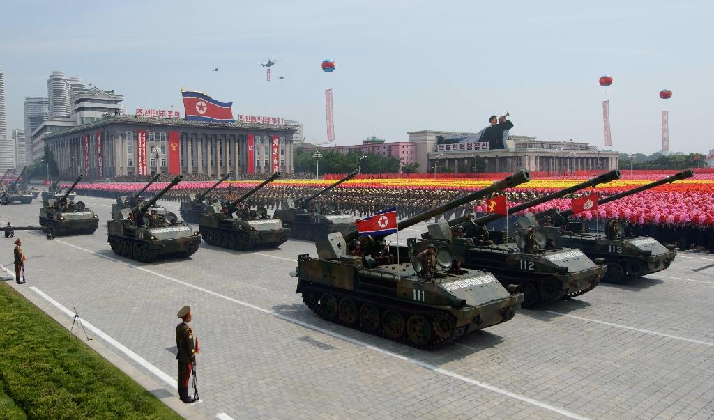 N. Korea ready for US war, leader tells lavish military parade