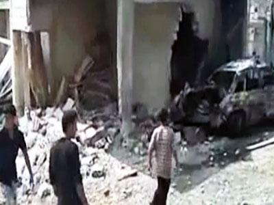 Raw video: Shelling, devastation in Syria