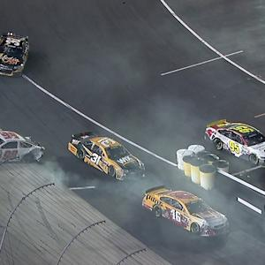 McMurray blows tire, collecting Wise and Bowyer