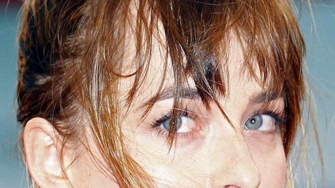 """Actress Dakota Johnson attends the red carpet event for the movie """"Black Mass"""" at the 72nd Venice Film Festival"""