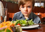 Boy at a restaurant